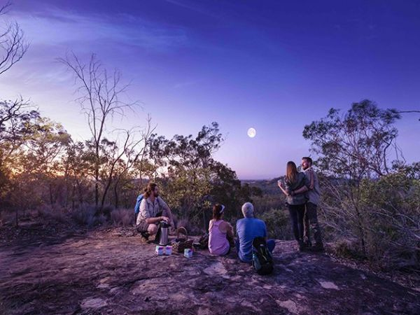 View of the moon rising - Image courtesy of discoveripswich.com.au