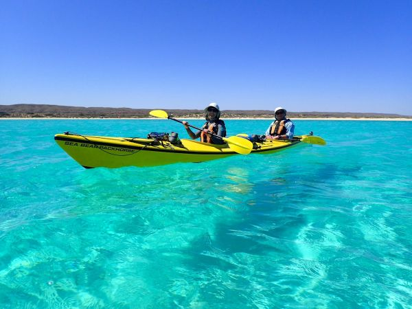 Kayaking the beautiful crystal clear waters