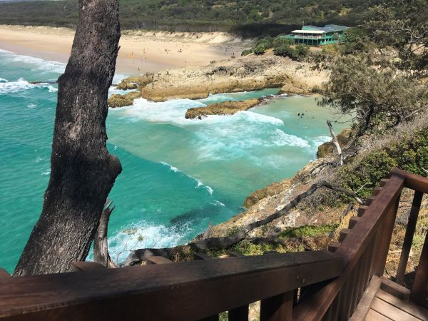 North Gorge Walk with view to Point Lookout SLSC
