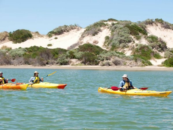 Kayaking the Coorong