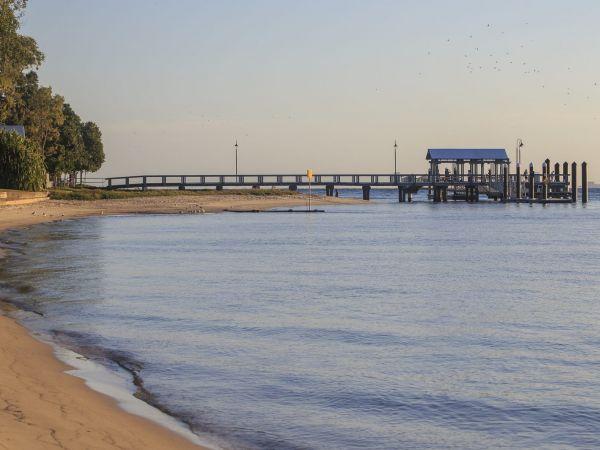 Bongaree Beach and Jetty -  Image courtesy of visitmoretonbayregion.com.au