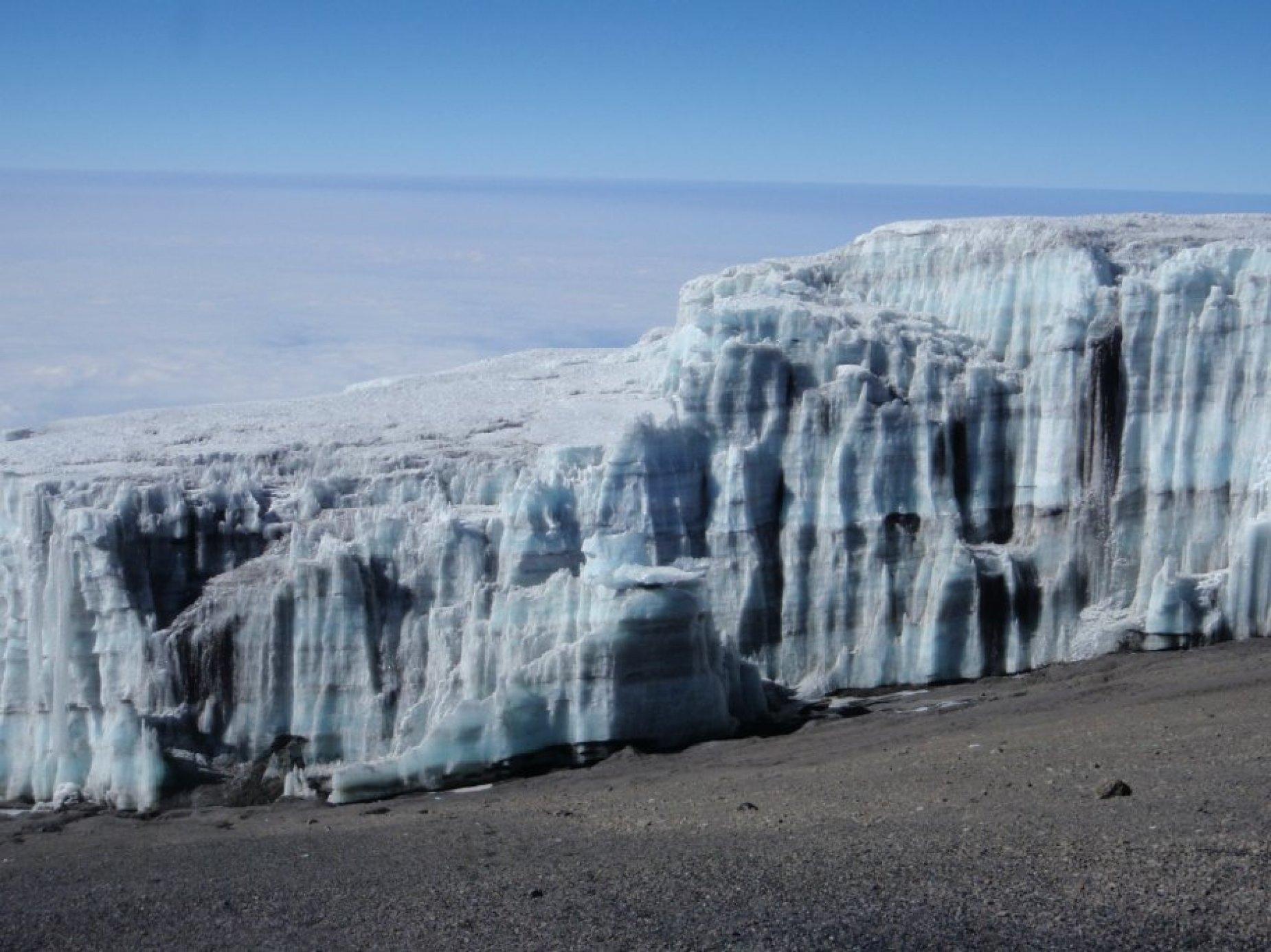 Receeding Glaciers on top of Kili