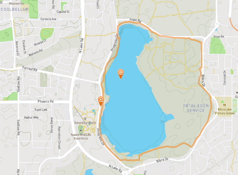 Map of the bibra lake walk