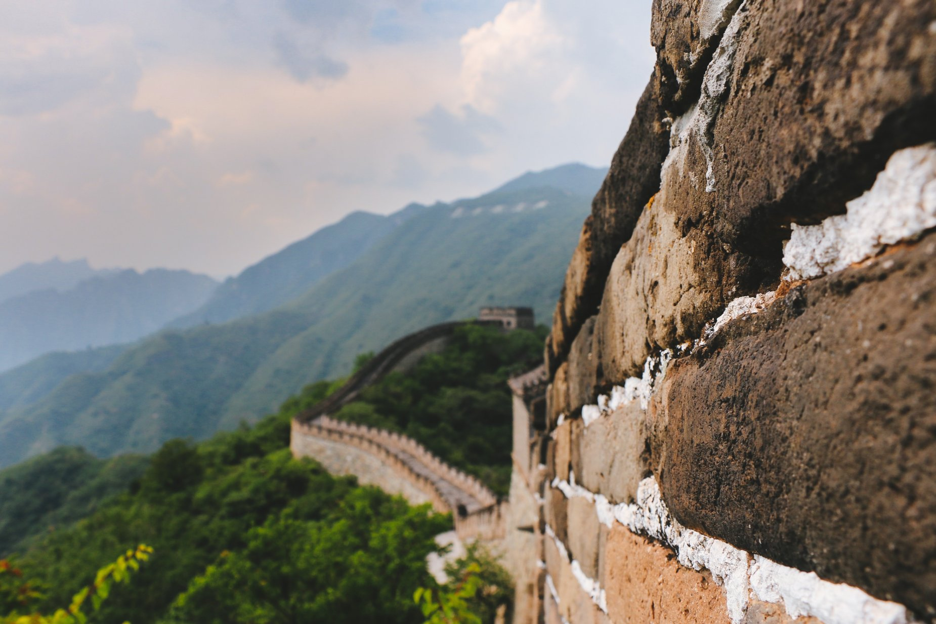 One of the sections of the Great Wall